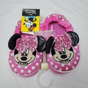 Disney Minnie Mouse Slippers Girls XL 11/12 Pink